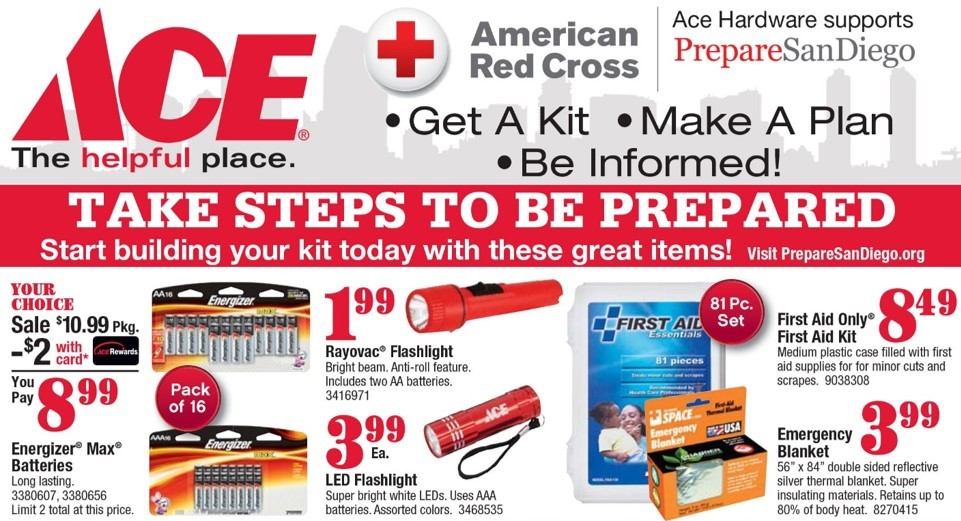 get ready for disaster with savings from Ace