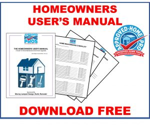 Homeowners Users; Manual Imange. Downloadable PDF of users manual for home maintenance  and home upgrades